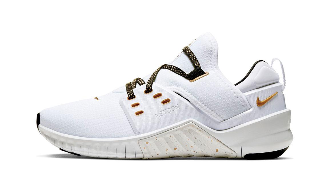 Women's Nike Free X Metcon 2 Training Shoes - Color: White/Metallic Gold (Regular Width) - Size: 6, White/Metallic Gold, large, image 3