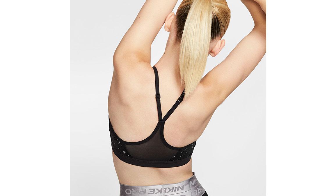 Women's Nike Indy Sparkle Sports Bra - Color: Black/Thunder Grey Size: XS, Black/Thunder Grey, large, image 3