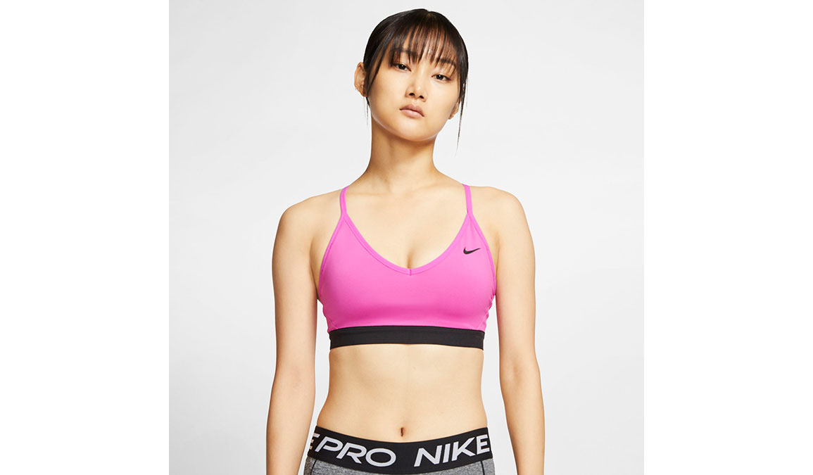 Women's Nike Indy Sports Bra - Color: Active Fuchsia/Black Size: S, Active Fuchsia/Black, large, image 1