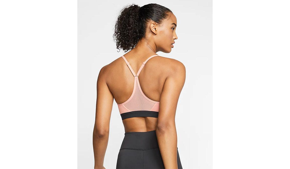 Women's Nike Indy Sports Bra - Color: Pink Quartz/Pure Black Size: XS, Pink Quartz/Pure Black, large, image 4