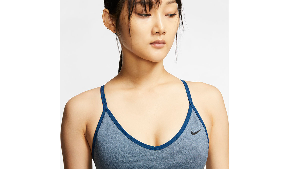 Women's Nike Indy Sports Bra - Color: Valerian Blue/Black Size: XS, Valerian Blue/Black, large, image 2