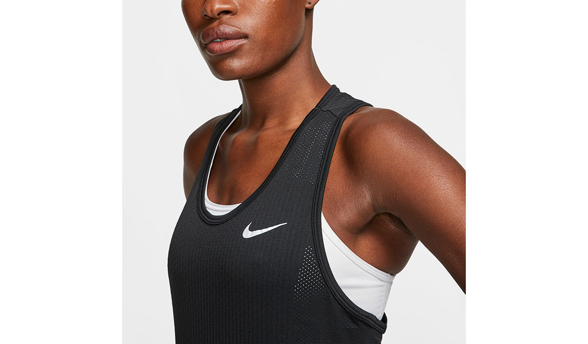 Women's Nike Infinite Tank - Color: Black/Reflective Silver Size: XS, Black/Reflective Silver, large, image 4