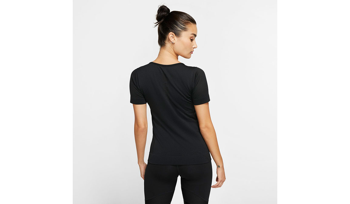 Women's Nike Infinite Top Short Sleeve - Color: Black/Reflective Silver Size: XS, Black/Reflective Silver, large, image 2