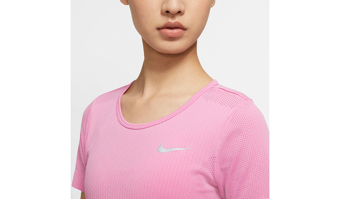 Women's Nike Infinite Top Short Sleeve - Color: Magic Flamingo/Reflective Silver Size: XS, Magic Flamingo/Reflective Silver, large, image 3