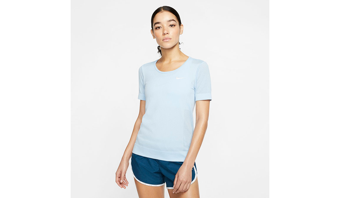Women's Nike Infinite Top Short Sleeve - Color: Psychic Blue/Reflective Silver Size: XS, Psychic Blue/Reflective Silver, large, image 1