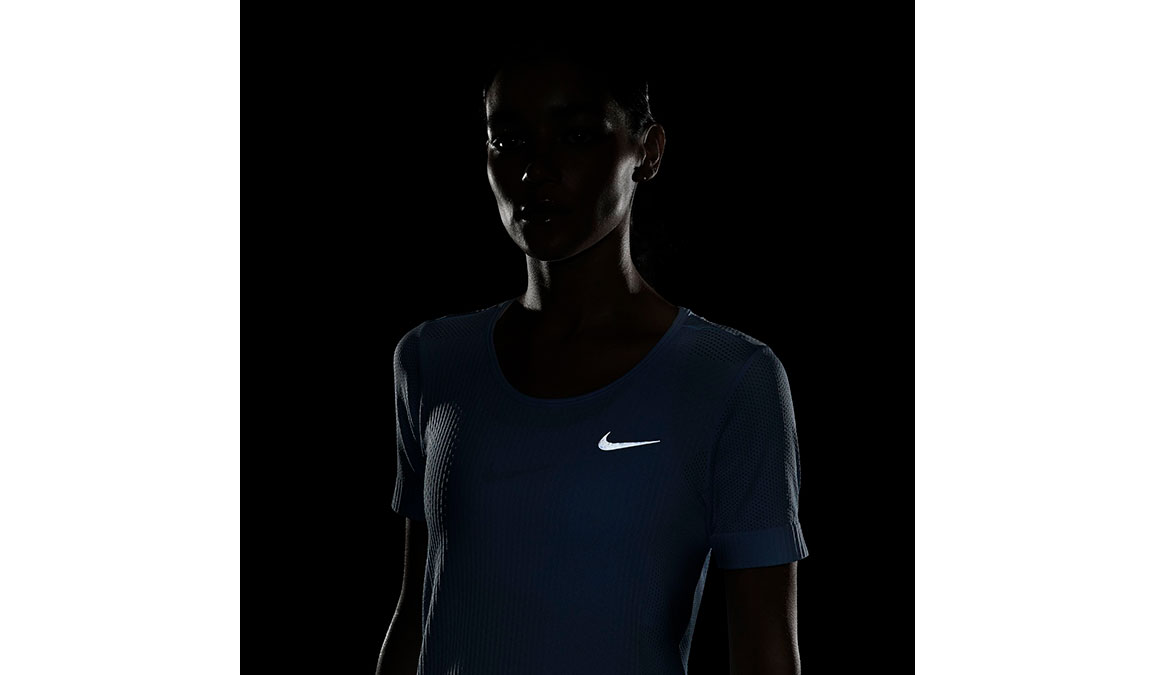 Women's Nike Infinite Top Short Sleeve - Color: Psychic Blue/Reflective Silver Size: XS, Psychic Blue/Reflective Silver, large, image 2