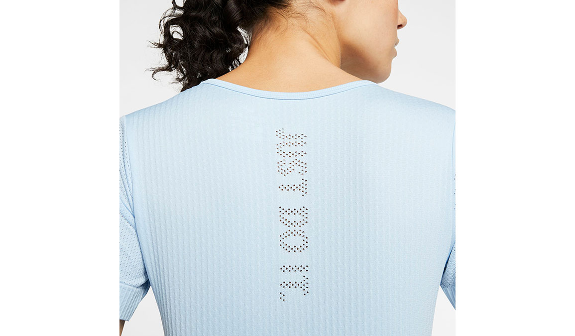 Women's Nike Infinite Top Short Sleeve - Color: Psychic Blue/Reflective Silver Size: XS, Psychic Blue/Reflective Silver, large, image 3