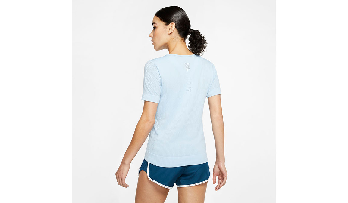 Women's Nike Infinite Top Short Sleeve - Color: Psychic Blue/Reflective Silver Size: XS, Psychic Blue/Reflective Silver, large, image 4
