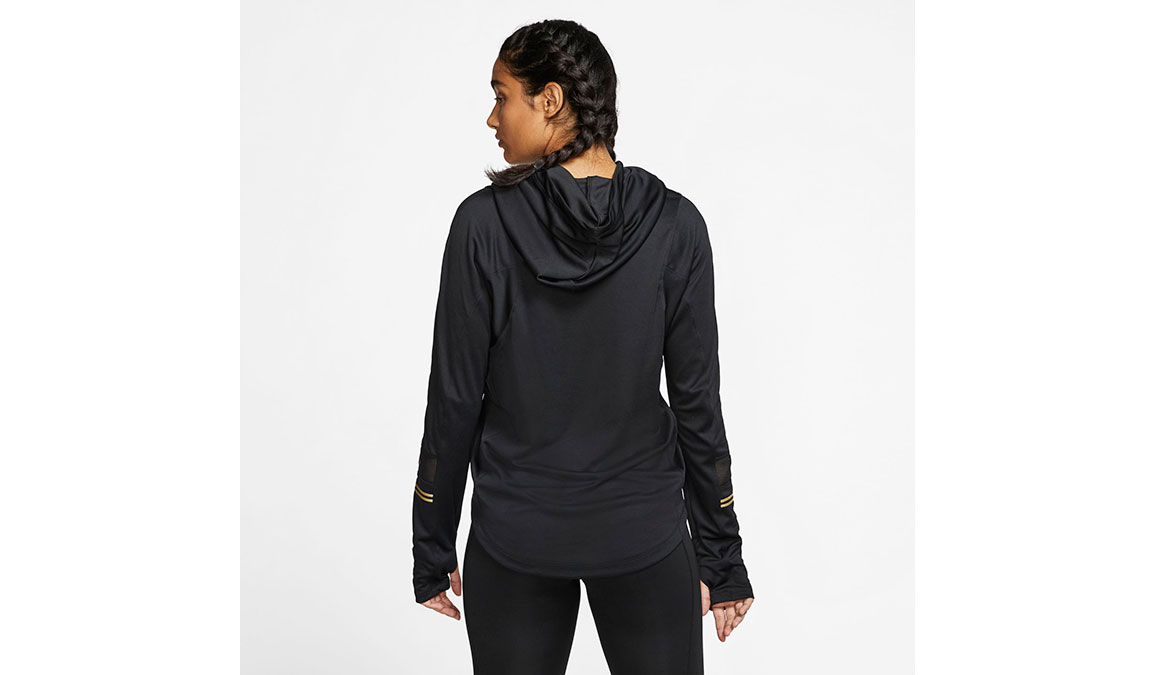 Women's Nike Long-Sleeve Hoodie Top - Color: Black/Metallic Gold Size: XS, Black/Metallic Gold, large, image 2