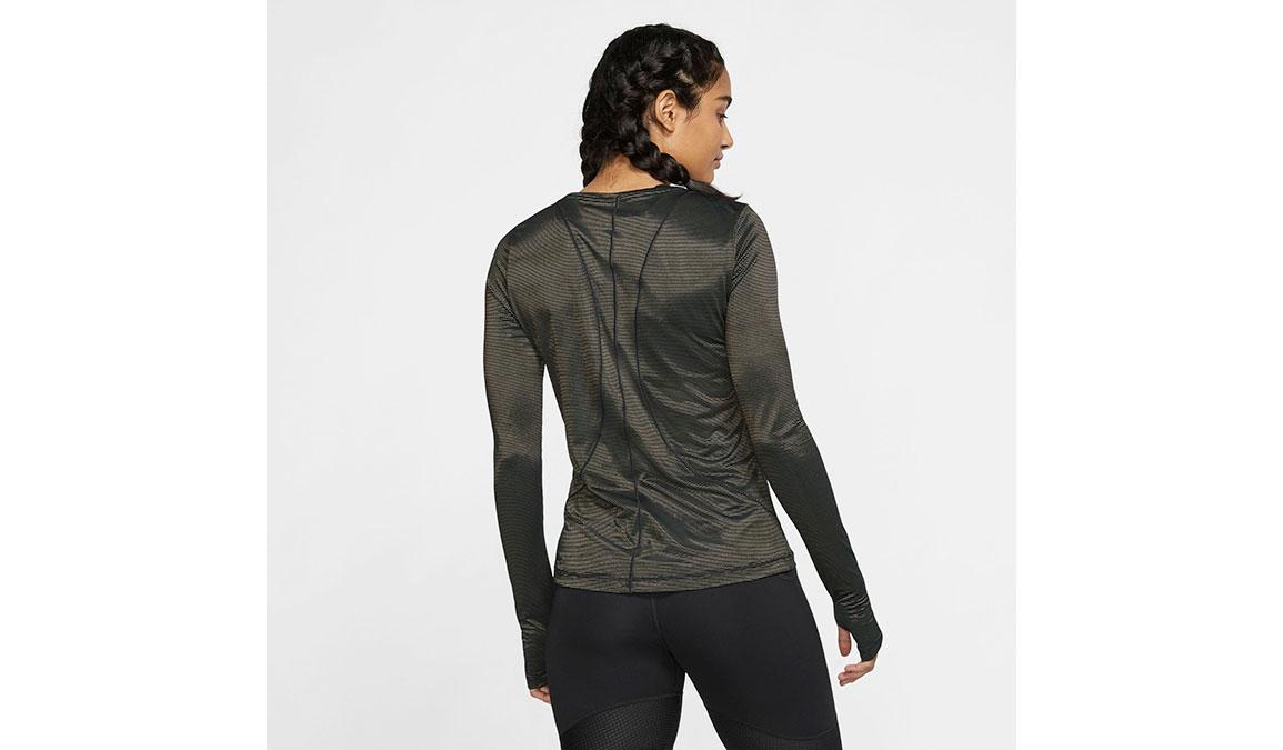 Women's Nike Miler Long Sleeve - Color: Black/Reflective Gold Size: XS, Black/Reflective Gold, large, image 2