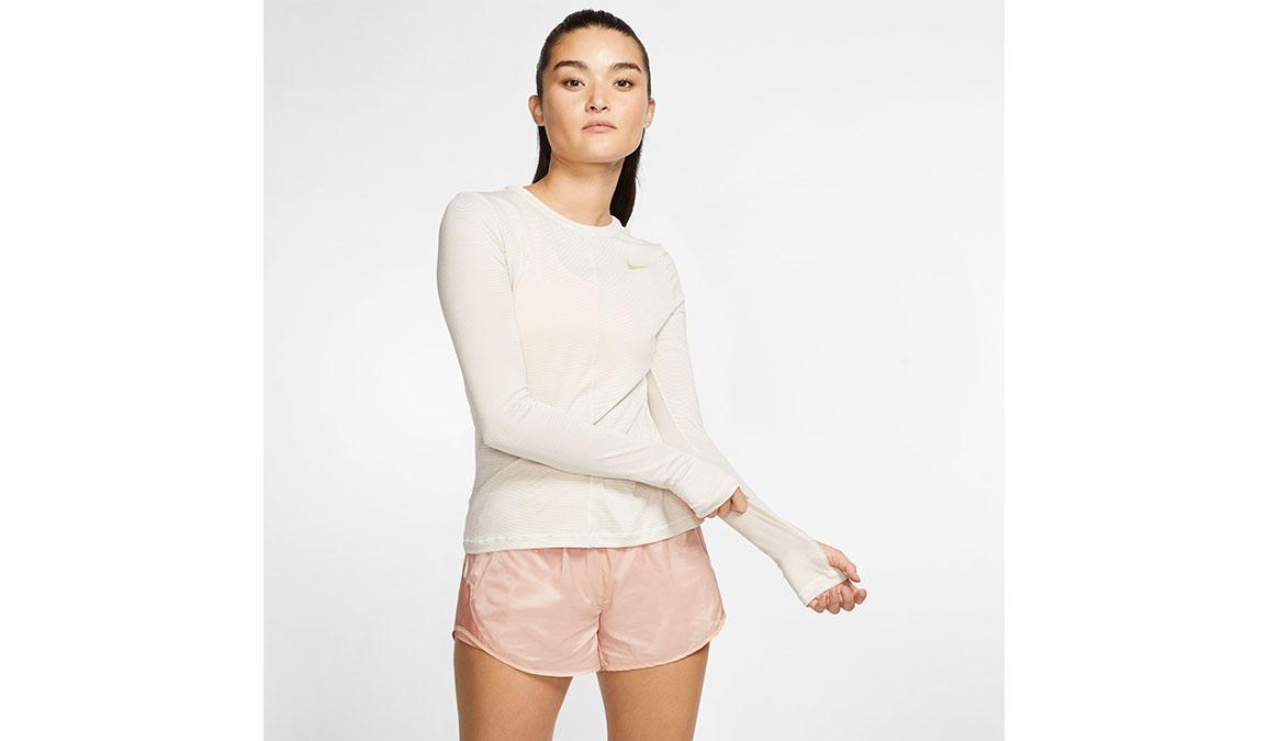 Women's Nike Miler Long Sleeve - Color: Sail/Reflective Gold Size: XS, Sail/Reflective Gold, large, image 1
