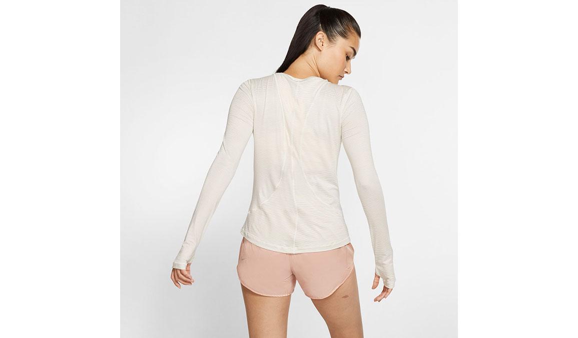 Women's Nike Miler Long Sleeve - Color: Sail/Reflective Gold Size: XS, Sail/Reflective Gold, large, image 2