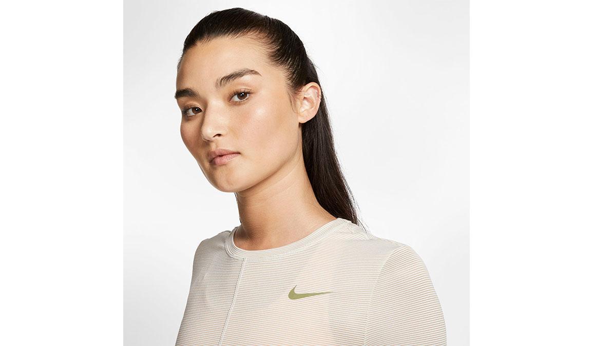 Women's Nike Miler Long Sleeve - Color: Sail/Reflective Gold Size: XS, Sail/Reflective Gold, large, image 4