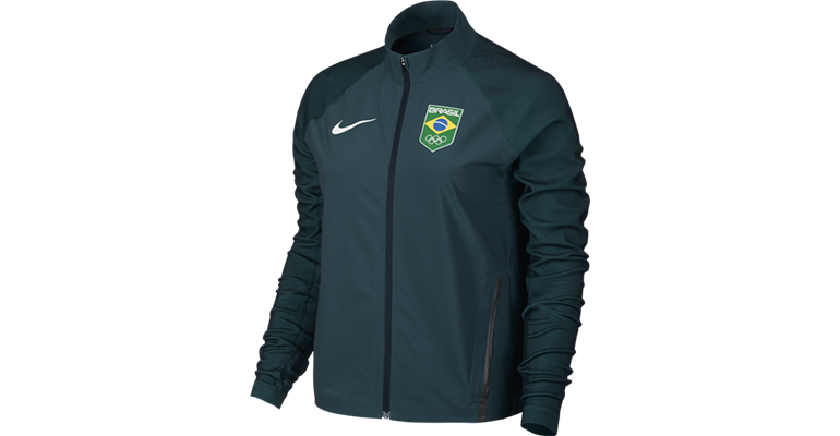 Women's Nike Nike Flex Team Brazil Jacket - Color: Midnight Turquoise - Size: S, Midnight Turquoise, large, image 1