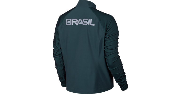 Women's Nike Nike Flex Team Brazil Jacket - Color: Midnight Turquoise - Size: S, Midnight Turquoise, large, image 2