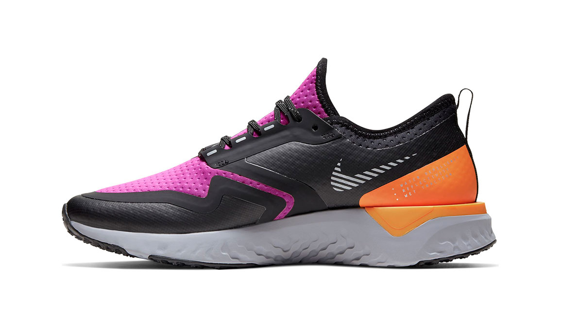 Women's Nike Odyssey React Shield 2 Running Shoe - Color: Fire Pink/Metal Silver (Regular Width) - Size: 5, Fire Pink/Metal Silver, large, image 3