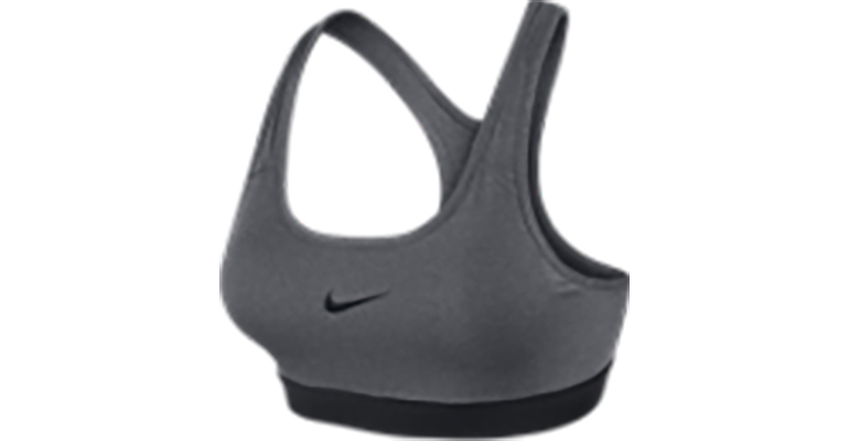Women's Nike Pro Classic Padded Bra - Color: Carbon Heather/Black - Size: XS, Carbon Heather/Black, large, image 1