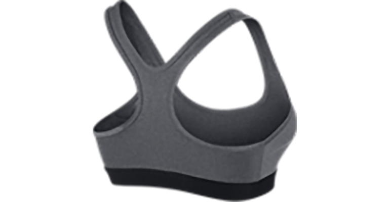 Women's Nike Pro Classic Padded Bra - Color: Carbon Heather/Black - Size: XS, Carbon Heather/Black, large, image 2