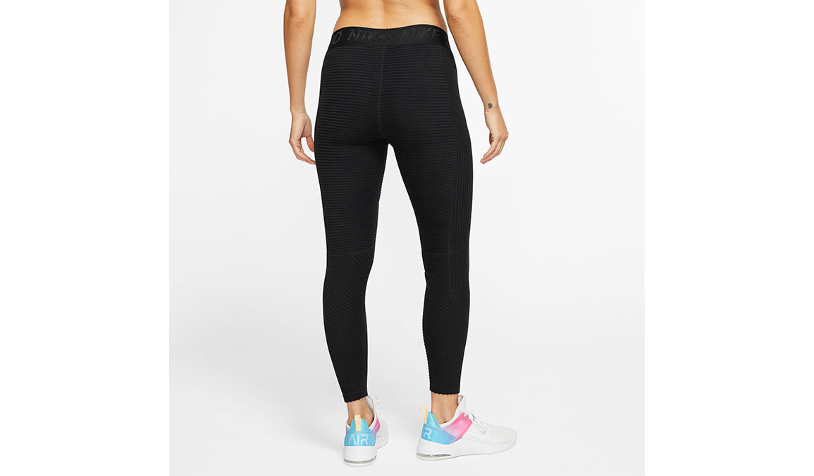 Women's Nike Pro HyperWarm Tights - Color: Black/Black Size: XS, Black, large, image 2