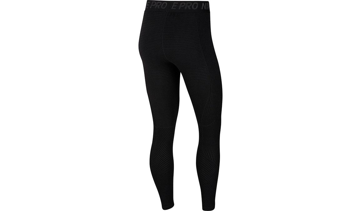 Women's Nike Pro HyperWarm Tights - Color: Black/Black Size: XS, Black, large, image 7