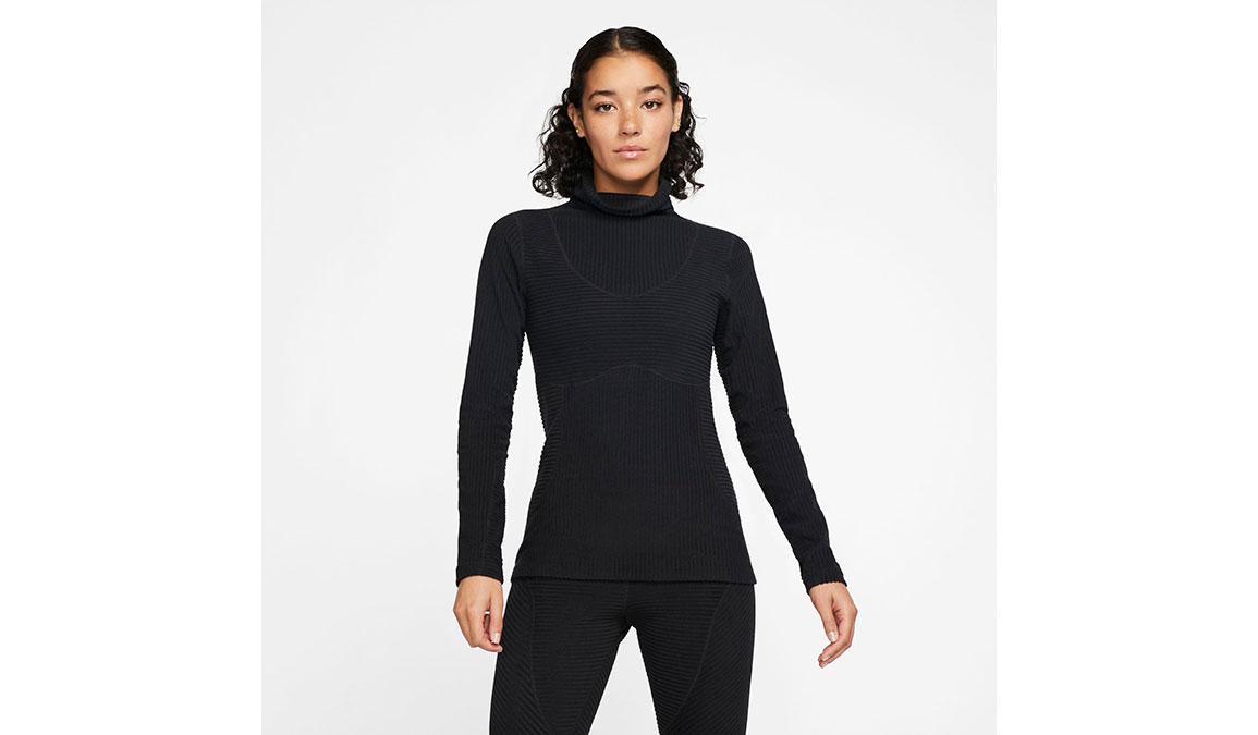 Women's Nike Pro HyperWarm Top - Color: Black/Black Size: XS, Black/Black, large, image 1