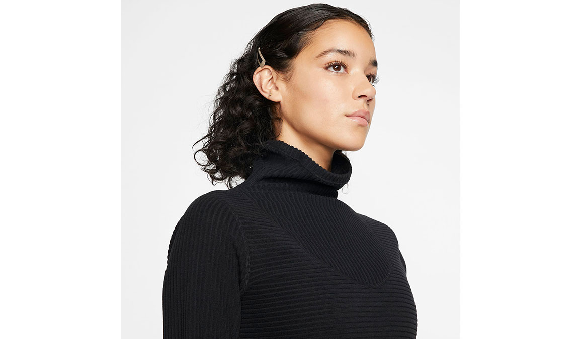 Women's Nike Pro HyperWarm Top - Color: Black/Black Size: XS, Black/Black, large, image 3