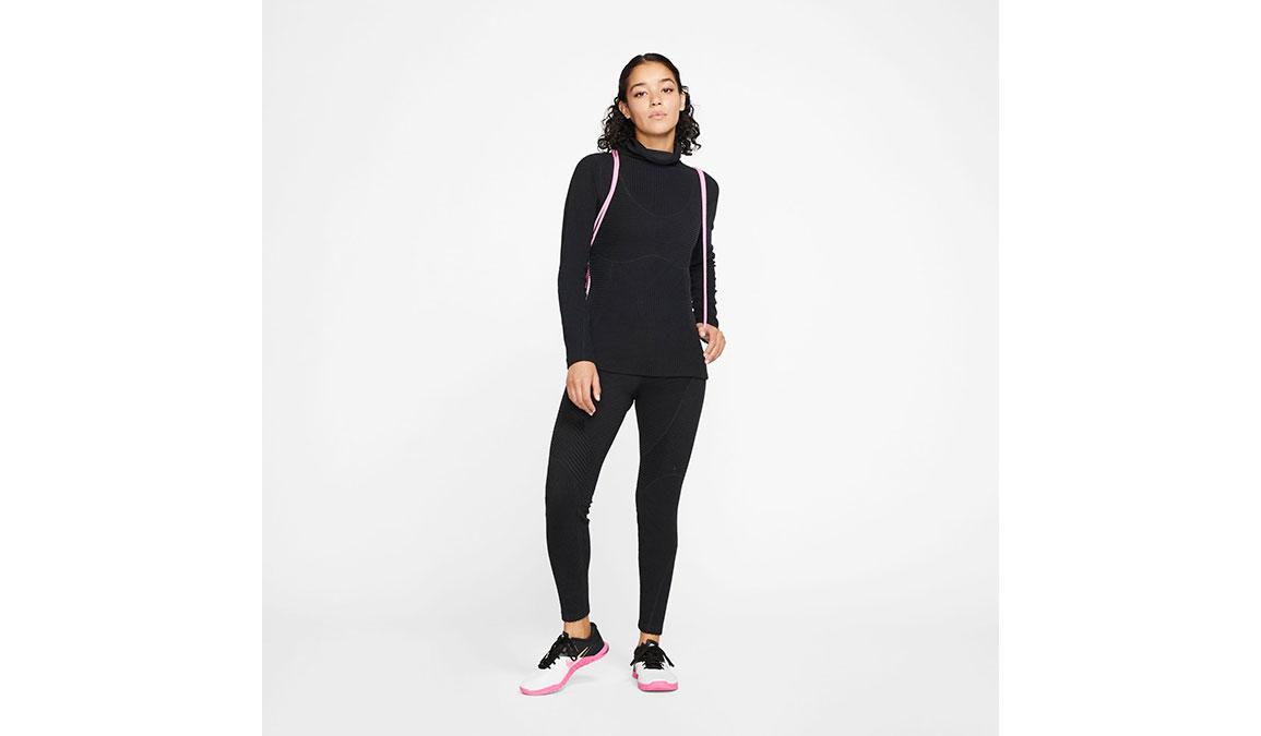Women's Nike Pro HyperWarm Top - Color: Black/Black Size: XS, Black/Black, large, image 4
