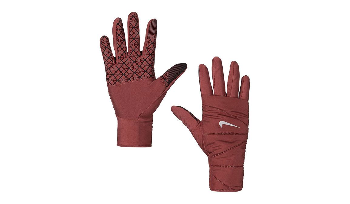 Women's Nike Quilted Run Gloves 2.0  - Color: Cedar/Silver Size: S, Cedar/Silver, large, image 1