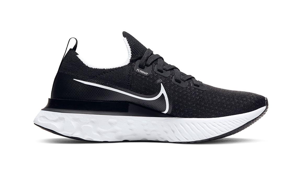 Women's Nike React Infinity Run Flyknit Running Shoe - Color: Black/White (Regular Width) - Size: 6.5, Black/White, large, image 2