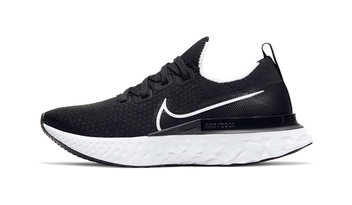 Women's Nike React Infinity Run Flyknit Running Shoe - Color: Black/White (Regular Width) - Size: 6.5, Black/White, large, image 3