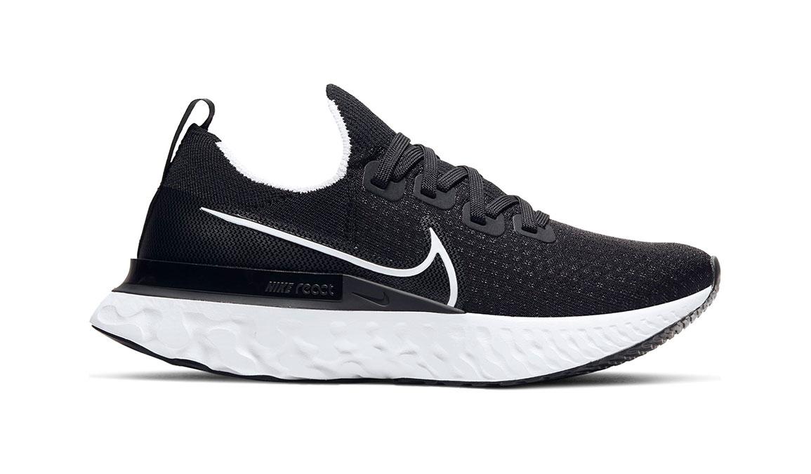 Women's Nike React Infinity Run Flyknit Running Shoe - Color: Black/White (Regular Width) - Size: 6.5, Black/White, large, image 1