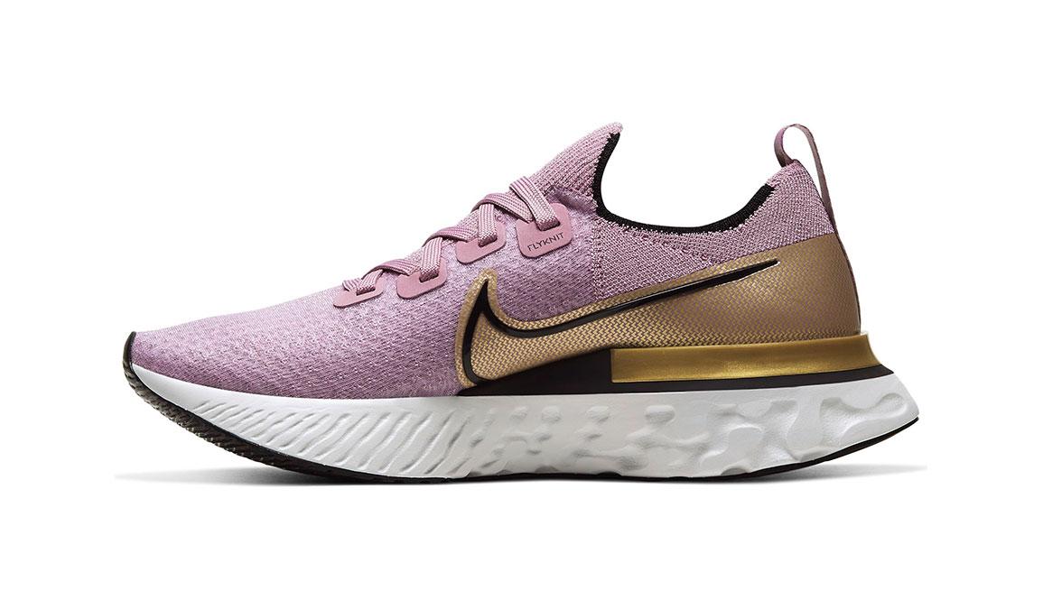 Women's Nike React Infinity Run Flyknit Running Shoe - Color: Plum Fog/Metallic Gold (Regular Width) - Size: 5, Plum Fog/Metallic Gold, large, image 2