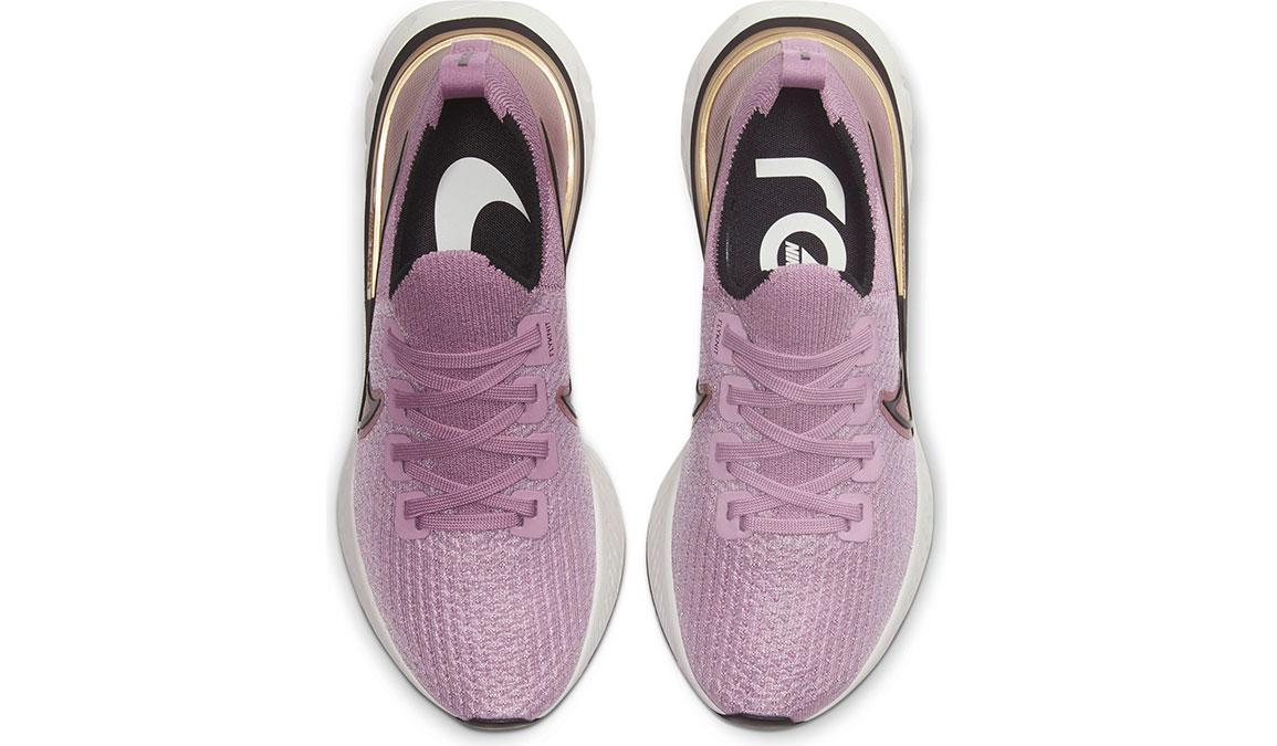 Women's Nike React Infinity Run Flyknit Running Shoe - Color: Plum Fog/Metallic Gold (Regular Width) - Size: 5, Plum Fog/Metallic Gold, large, image 4