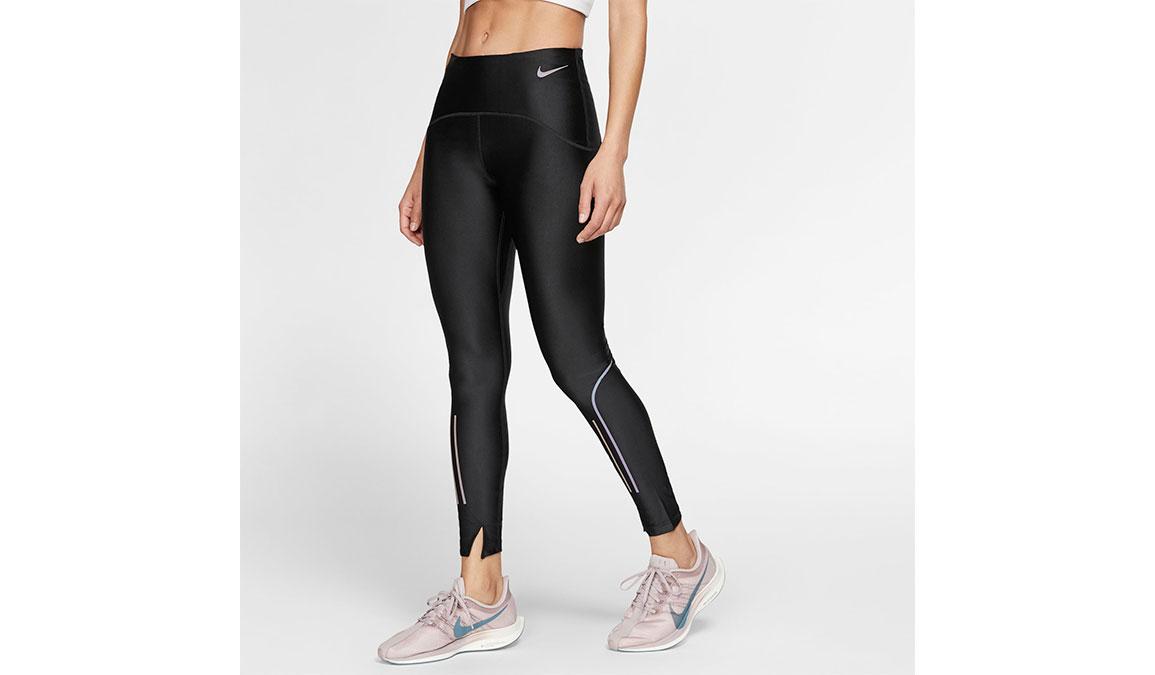 Women's Nike Speed 7/8 Running Tights - Color: Black/Gunsmoke Size: S, Black/Gunsmoke, large, image 1