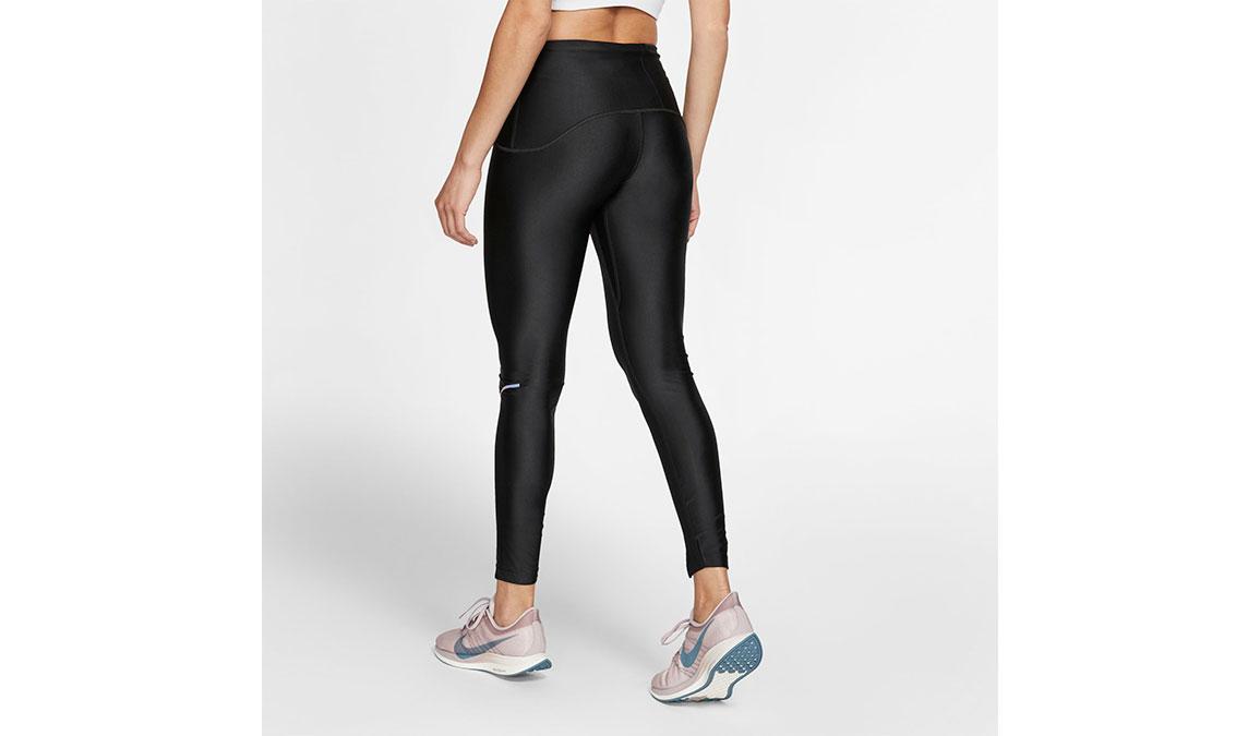 Women's Nike Speed 7/8 Running Tights - Color: Black/Gunsmoke Size: S, Black/Gunsmoke, large, image 2