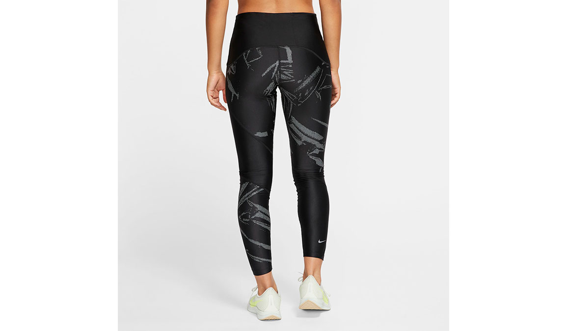 Women's Nike Speed 7/8 Running Tights - Color: Black/Reflective Silver Size: XS, Black/Reflective Silver, large, image 2
