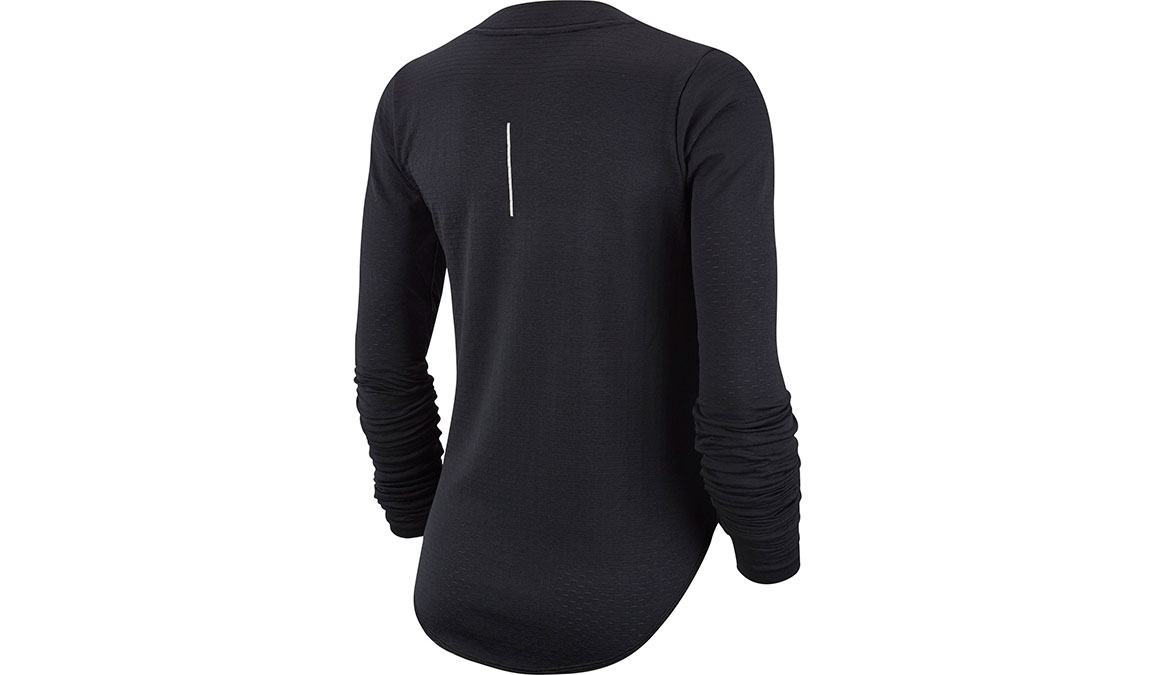 Women's Nike Sphere Element Crew Top - Color: Black/Reflective Silver Size: XS, Black/Reflective Silver, large, image 2