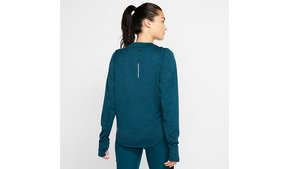 Women's Nike Sphere Element Crew Top - Color: Midnight Turqouise/Reflective Silver Size: XS, Midnight Turqouise/Reflective Silver, large, image 2