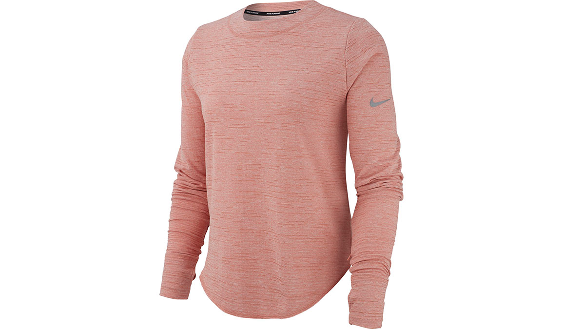 Women's Nike Sphere Element Crew Top - Color: Pink Quartz/Reflective Silver Size: XS, Pink Quartz/Reflective Silver, large, image 1