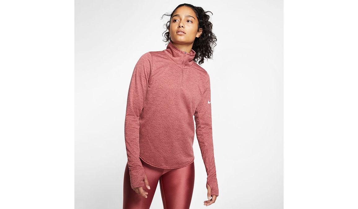Women's Nike Sphere Element Half Zip Top - Color: Cedar/Light Redwood Size: XS, Cedar/Light Redwood, large, image 1