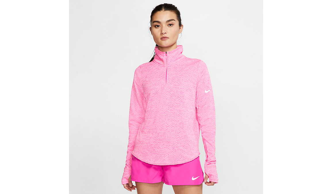 Women's Nike Sphere Element Half Zip Top - Color: Fire Pink/Heather Size: XS, Fire Pink/Heather, large, image 1