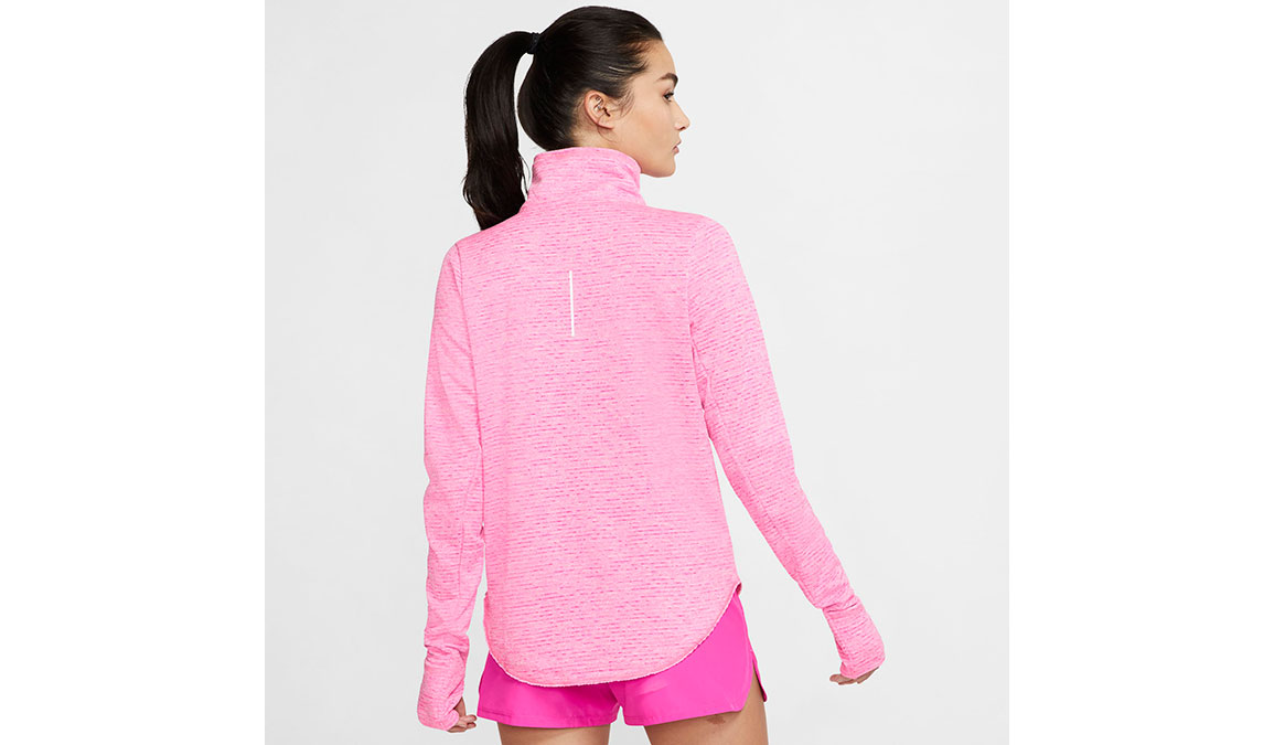 Women's Nike Sphere Element Half Zip Top - Color: Fire Pink/Heather Size: XS, Fire Pink/Heather, large, image 2