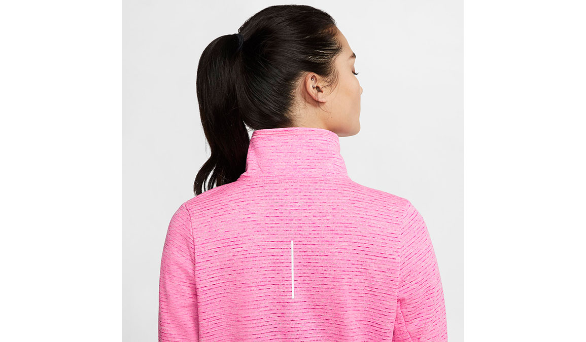 Women's Nike Sphere Element Half Zip Top - Color: Fire Pink/Heather Size: XS, Fire Pink/Heather, large, image 3