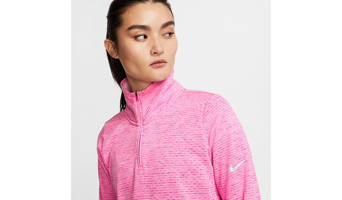 Women's Nike Sphere Element Half Zip Top - Color: Fire Pink/Heather Size: XS, Fire Pink/Heather, large, image 4