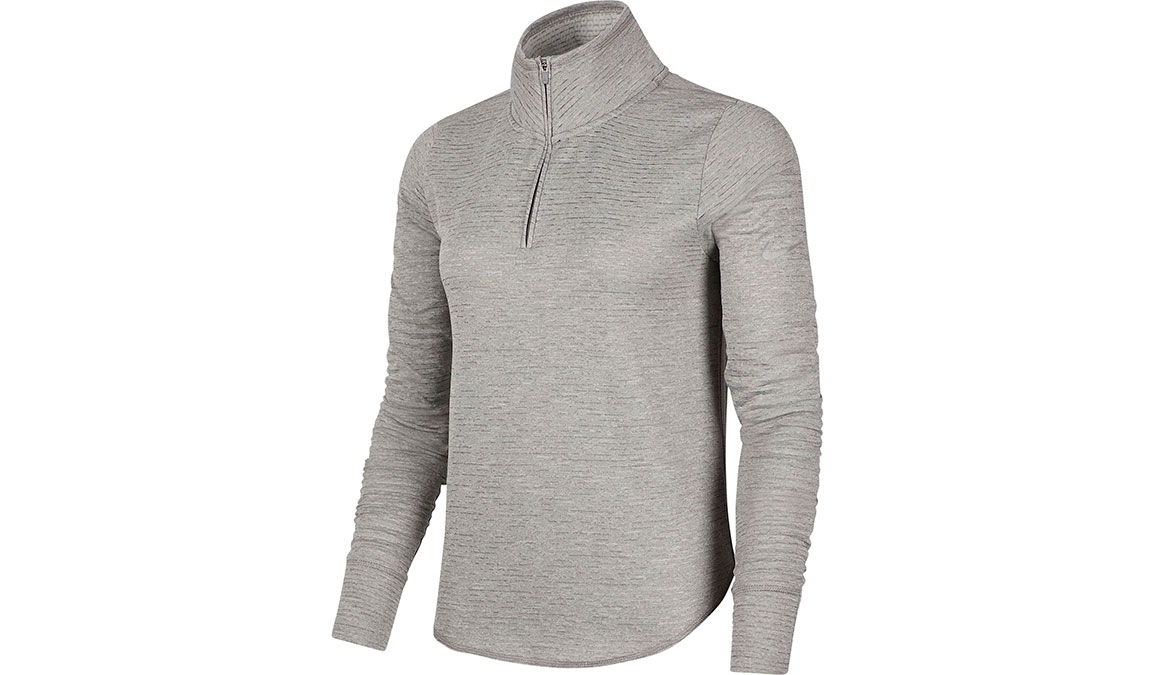 Women's Nike Sphere Element Half Zip Top - Color: Particle Grey/Reflective Silver Size: XS, Particle Grey/Reflective Silver, large, image 1