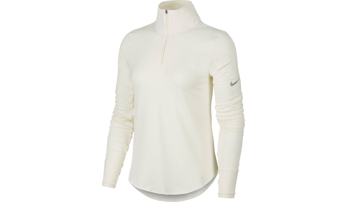 Women's Nike Sphere Element Half Zip Top - Color: Sail/Reflective Silver Size: XS, Sail/Reflective Silver, large, image 1