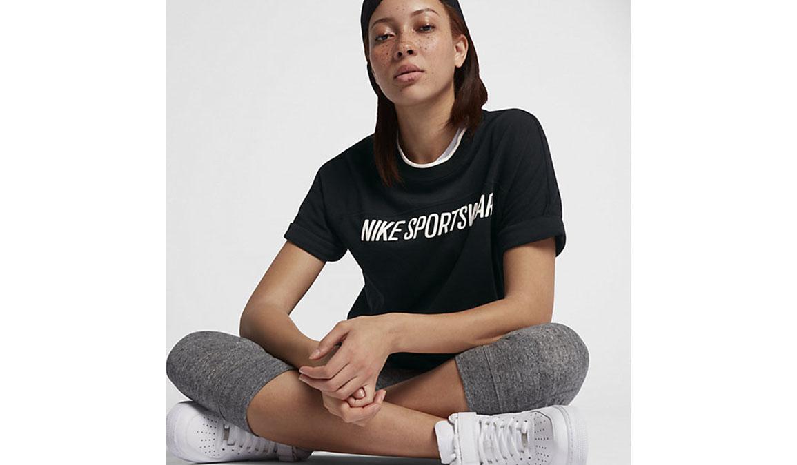 Women's Nike Sportswear Short Sleeve - Color: Black/Sail - Size: S, Black/Sail, large, image 2