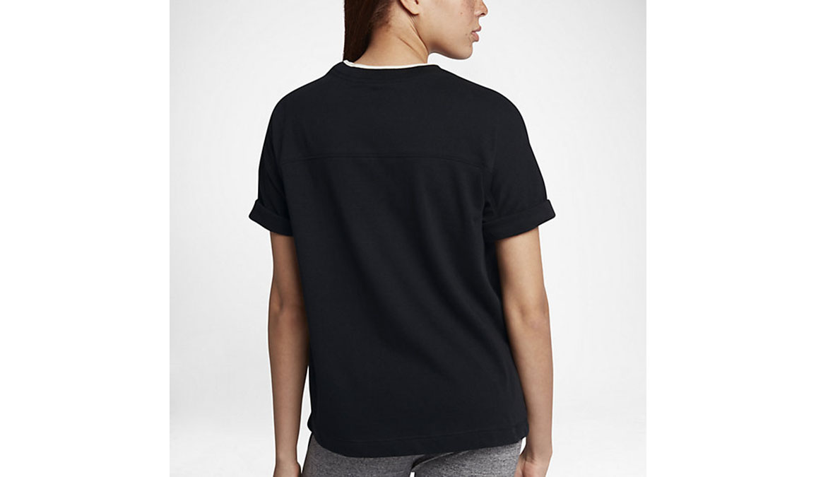 Women's Nike Sportswear Short Sleeve - Color: Black/Sail - Size: S, Black/Sail, large, image 3