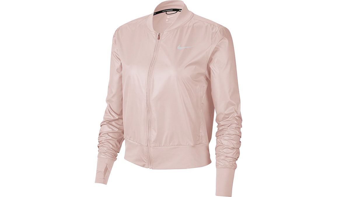 Women's Nike Swoosh Running Jacket - Color: Barely Rose/Reflective Silver Size: XS, Barely Rose/Reflective Silver, large, image 1