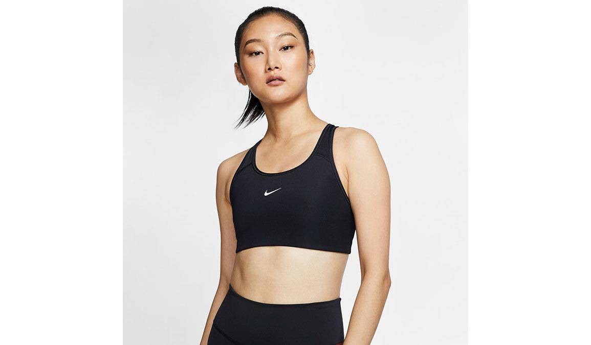 Women's Nike Swoosh Sports Bra - Color: Black/White - Size: XS, Black/White, large, image 1